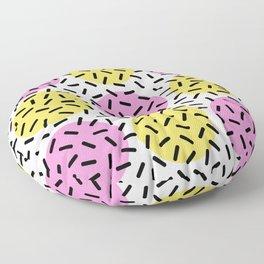 Memphis Polka Dot Sprinkles Pattern 131 Floor Pillow