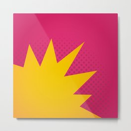 Minimal Pop Bang on Pink Metal Print