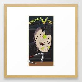 Scream A Day Framed Art Print