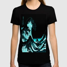 The Great Wave : Dark Teal T-shirt