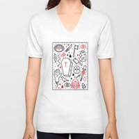 horror V-neck T-shirts featuring Good Clean Horror by Josh Ln