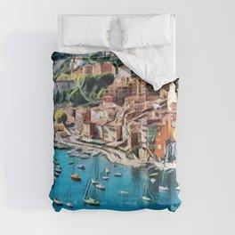 Côte d'Azur - French Riviera, France ocean landscape Comforters