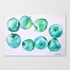 blue apples Canvas Print