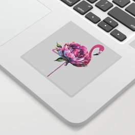 Flower Flamingo Sticker