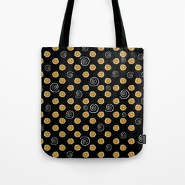Spiral and yellow flowers Tote Bag