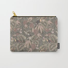 Vintage tropical birds foliage Carry-All Pouch