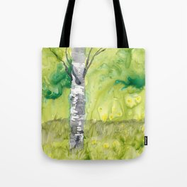 Birch Tree in Spring Tote Bag