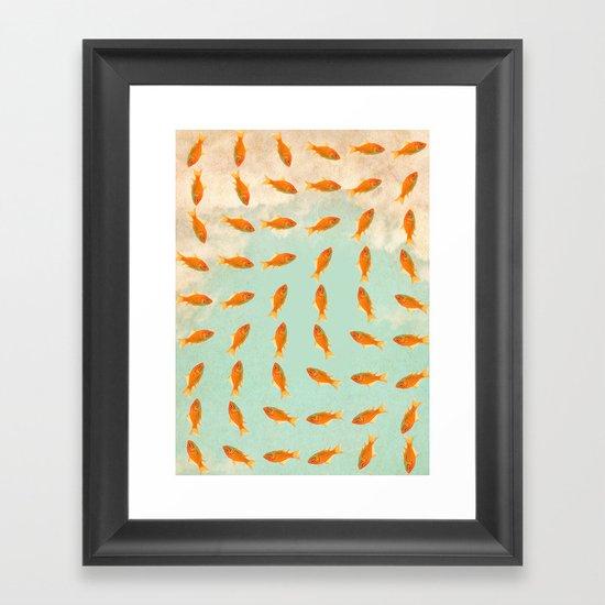 pattern goldfish Framed Art Print