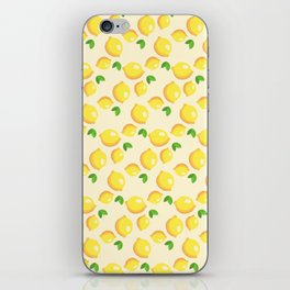 Lemon Pattern iPhone Skin