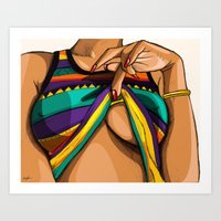 mcfreshcreates Art Prints featuring Peek by McfreshCreates