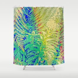 Fern and Fireweed 01 Shower Curtain