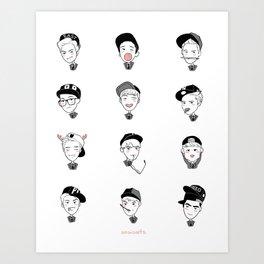 exo yearbook Art Print