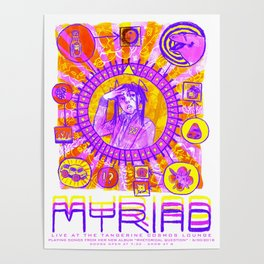 MYRIAD Tour Poster Poster