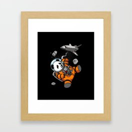 Panda Bear Space Astronaut Cosmic Animal Framed Art Print