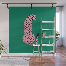 The Stare: Pink Cheetah Edition Wall Mural
