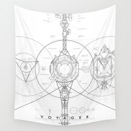 Voyager Blueprint Wall Tapestry