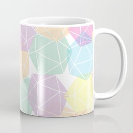 Pastel D20 Pattern Dungeons and Dragons Dice Set Coffee Mug