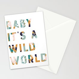 Baby It's a Wild World Stationery Cards