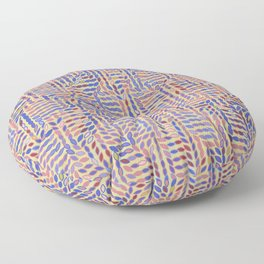 Motion in Muted Abstract Leaves Floor Pillow