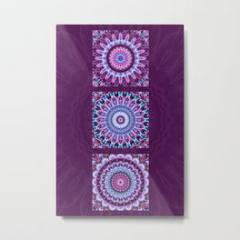 Mandala Collage violett Metal Print