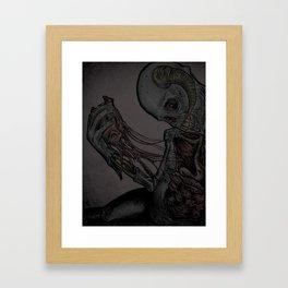 Happy Valentines Day Card  Framed Art Print