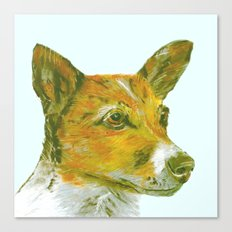 Jack Russell printed from an original painting by Jiri Bures Canvas Print
