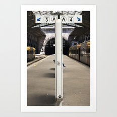 train station Art Print