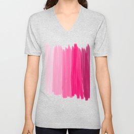 Pink Stripes Unisex V-Neck