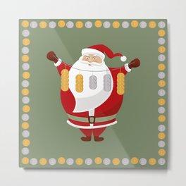Santa.. Money.. Lucky time! Metal Print