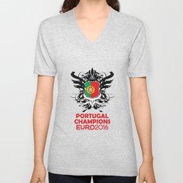 Portugal Champions Uefa Euro 2016 Unisex V-Neck