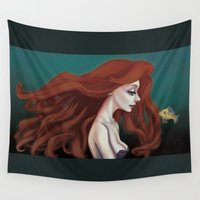 ariel Wall Tapestries featuring Ariel by The Batty Bird