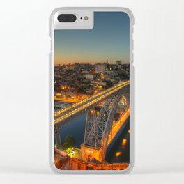 Porto twylight bridge Clear iPhone Case