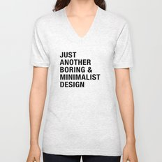 Boring and Minimalist Unisex V-Neck