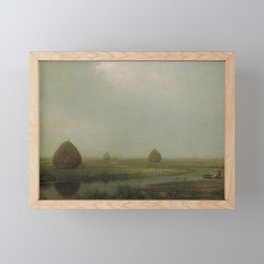 Jersey Marshes 1874 By Martin Johnson Heade   Reproduction Framed Mini Art Print