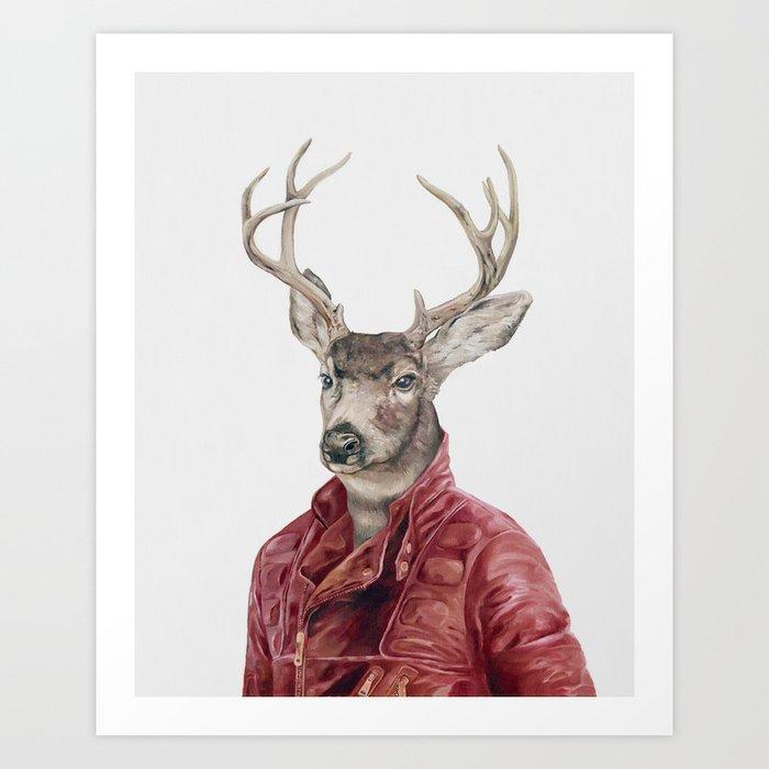 Deer in Leather Kunstdrucke