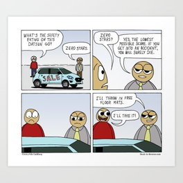 """Safety Last"" - Stuck in Reverse comic Art Print"
