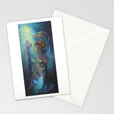 Coral Oasis Stationery Cards