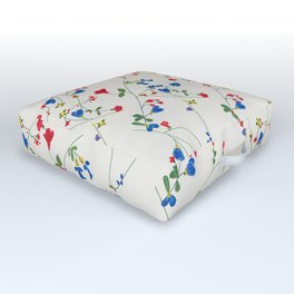 Bright Flower Pattern Outdoor Floor Cushion