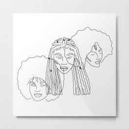 Afrocentric Beauty Metal Print