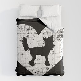 Chinese Crested heart Comforters