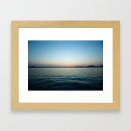 Subtle sunset Framed Art Print
