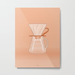 Coffee Maker Series - Pour-over Dripper Metal Print