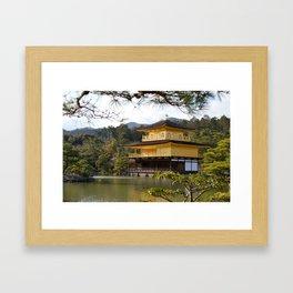 The Golden Pavilion (Kinkaku-ji) Framed Art Print