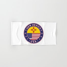 New Mexico, USA States, New Mexico t-shirt, New Mexico sticker, circle Hand & Bath Towel