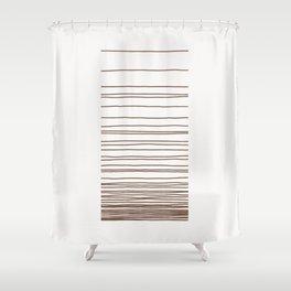 Linear Gradation - Chocolate Shower Curtain