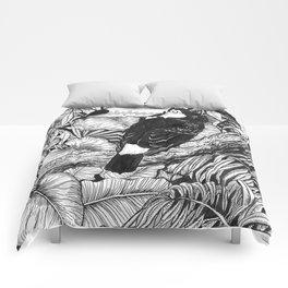 Toucan tropical garden Comforters