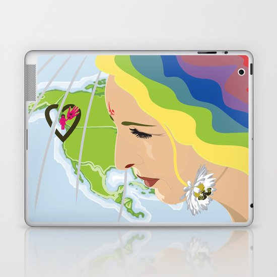 your mama loves you, no matter where you are Laptop & iPad Skin