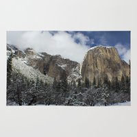 yosemite Area & Throw Rugs featuring Yosemite by Michelle Chavez