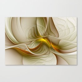 Abstract With Colors Of Precious Metals, Fractal Art Canvas Print