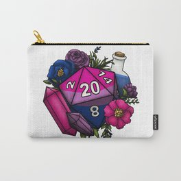 Pride Bisexual D20 Tabletop RPG Gaming Dice Carry-All Pouch